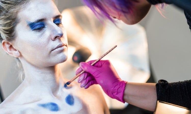 Acrylic body painting