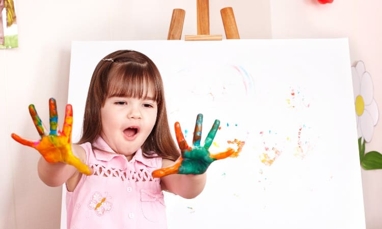 Acrylic paint safe for baby handprints