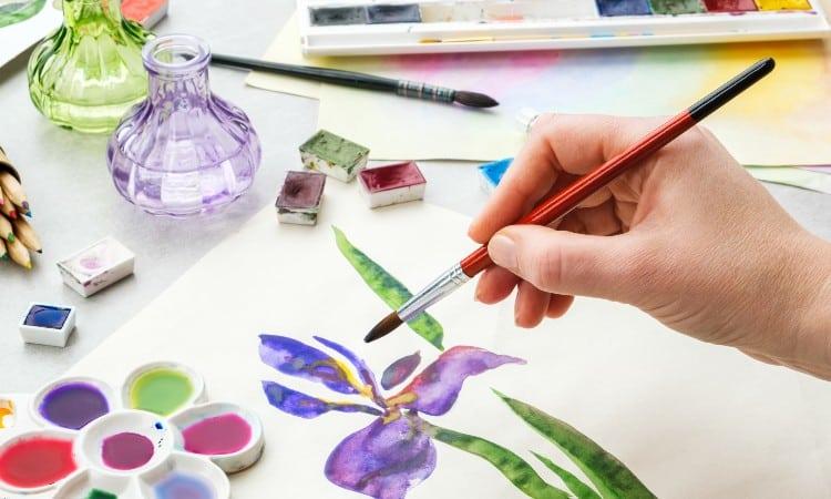 Acrylic paint vs watercolor