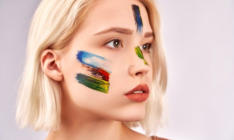 Can you put acrylic paint on your face