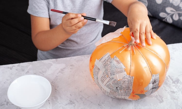 How to Paint Paper Mache