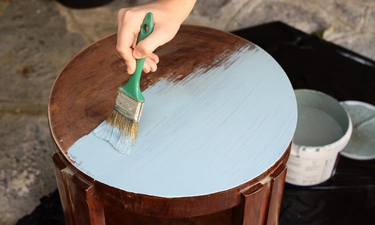 How to paint on wood with acrylic