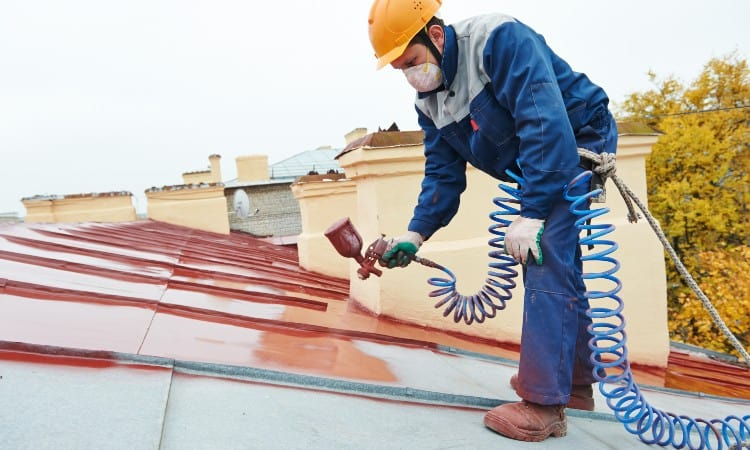 Painting rusted galvanized metal roof