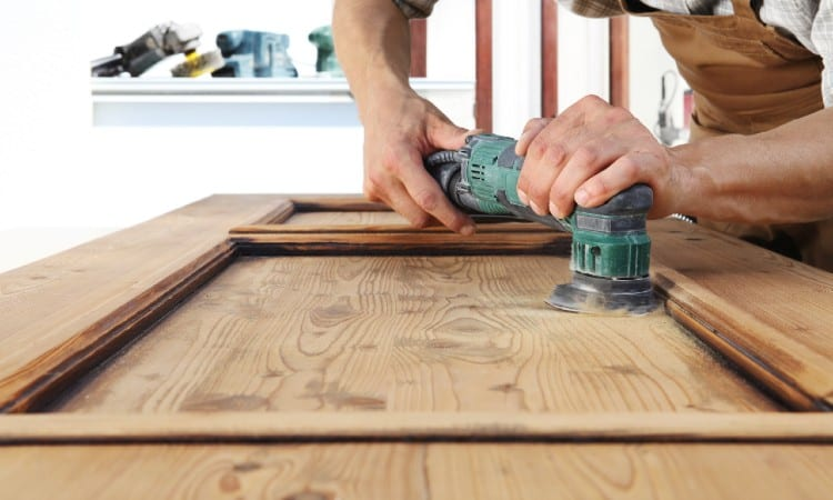 Sanding before painting over stain