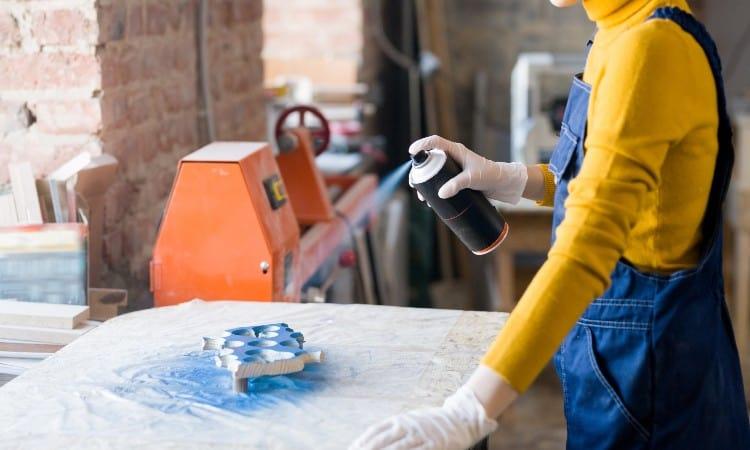 Waterproofing spray paint